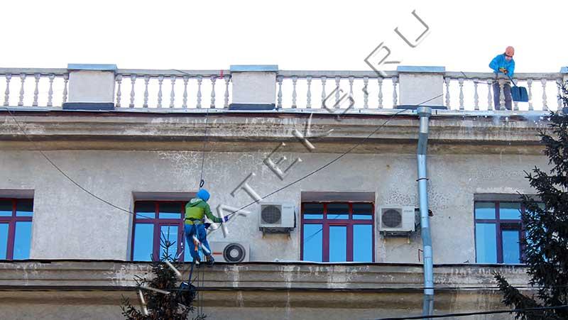 Цена уборка снега с крыши новосибирск
